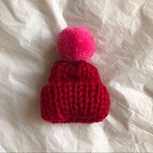sunnybikini Jewelry - NWT Mini Colorful Wool Hat with Buboin Brooch
